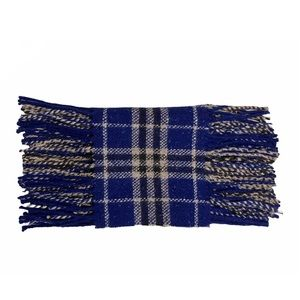 """Burberry """"Happy"""" Double Fringe Wool Scarf"""